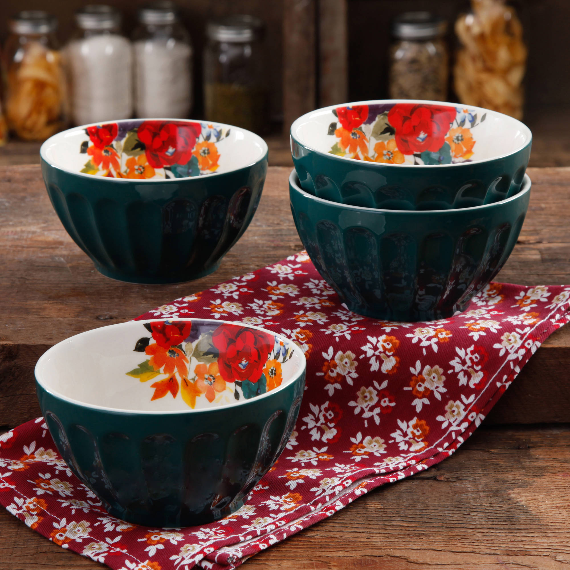 The Pioneer Woman 5.75  Latte Bowl Set, 4-Pack