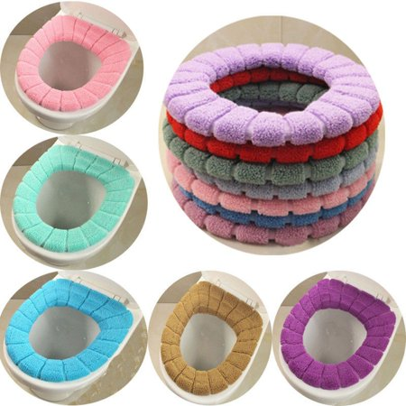 New USA Washable Toilet Seat Cover Soft Pad Cloth Lid Top Warmer Mat Bathroom