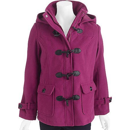 f7d67f7195b George - George Women s Toggle Front Coat with Removable Hood - Walmart.com