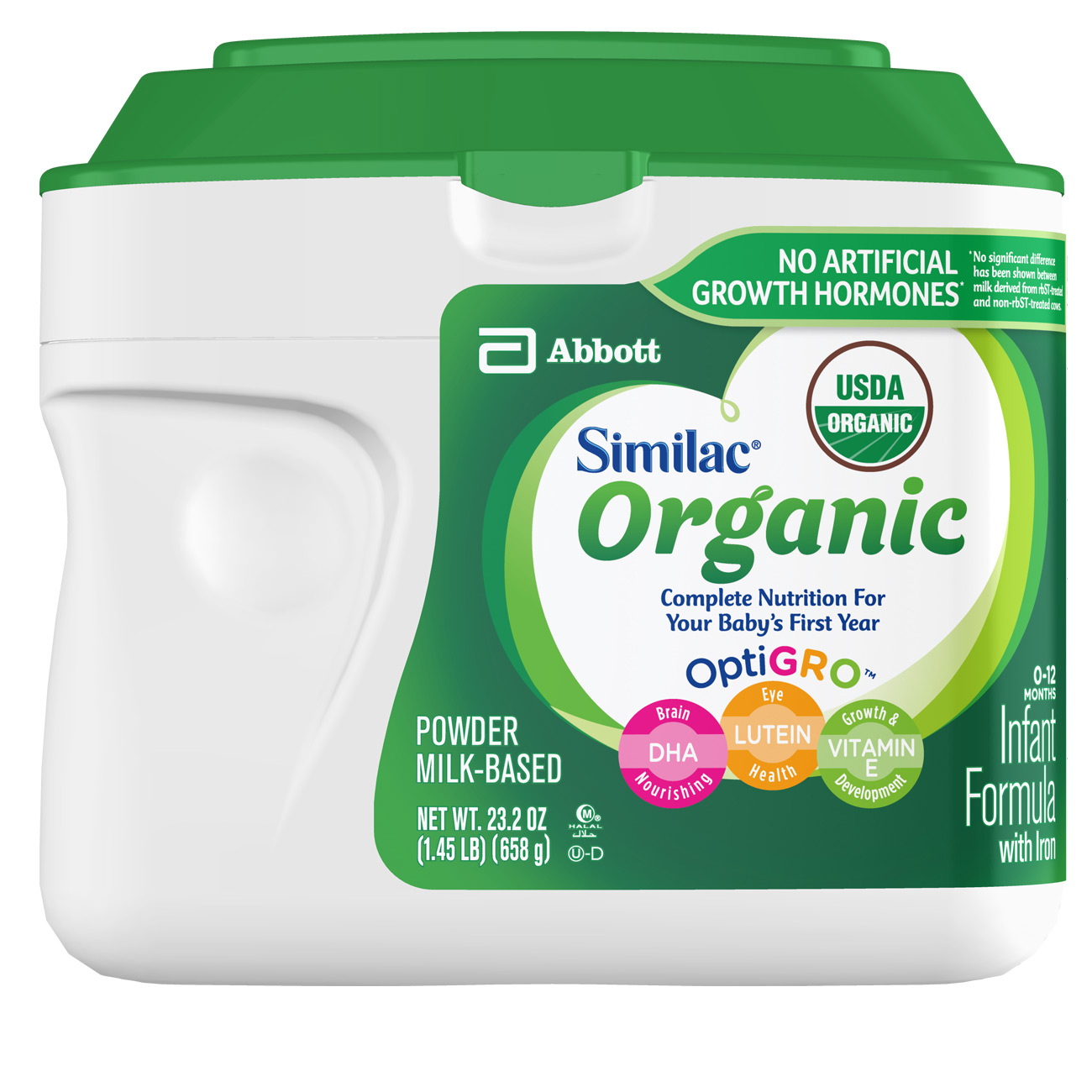 (Buy 2, Save $5) Similac Organic NON-GMO Infant Formula with Iron, Powder, 1.45 lb