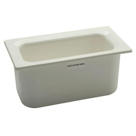 Carlisle Coldmaster 5 1/10 qt White ABS Plastic Food Pan - 1/3 Size -