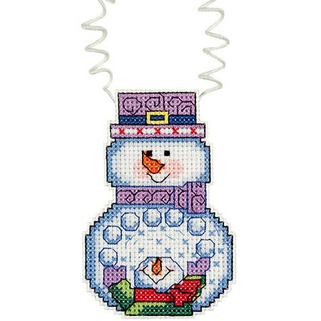 """Holiday Wizzers Snowman with Snowballs 14-Count Cross-Stitch -3"""" x 2-1/4"""""""