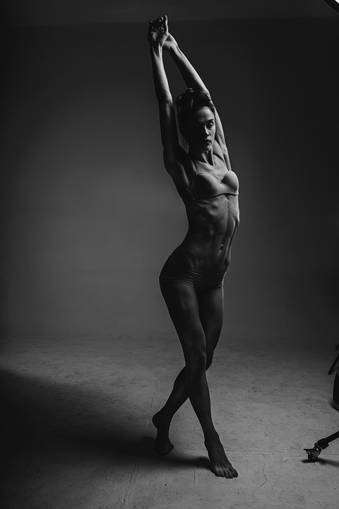 Nude women jumping rope