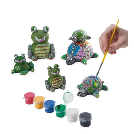 Paint-a-Rock-Pet Kit with 3 Turtles & 3 Frogs - Craft Kit for Kids](Summer Craft Ideas For Kids)