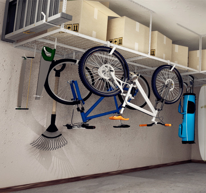 Fleximounts 4x8 Heavy Duty Overhead, Overhead Garage Storage Racks