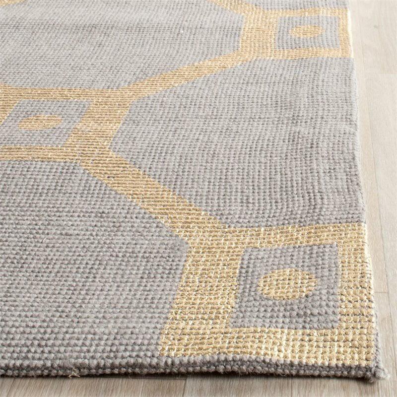 "Safavieh Cedar Brook 7'3"" X 9'3"" Handmade Jute Rug in Gray and Gold - image 5 of 8"