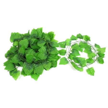 12 Pcs 7.5ft Artificial Ivy Leaf Garland Plants Vine Foliage Home (Ivy Leaf Trim)