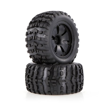 2pcs 2.75 Inch 120mm Monster Truck Wheel Rim and Tire for 1/10 HPI Savage XS Flux MT LRP RC Car ()