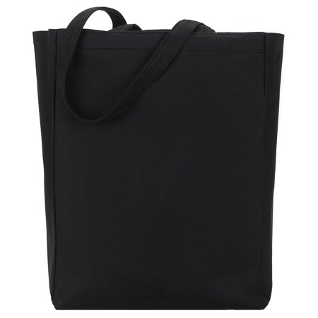 Gemline Women's All Purpose Open Top Inner Seams Tote Bag Open Top Striped Tote
