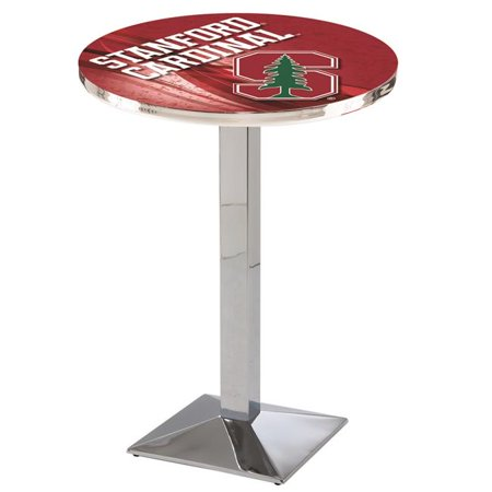 Holland Bar Stool L217C3636Stnfrd-D2 36 in. Stanford Cardinals Pub Table with 36 in. Top, Chrome - image 1 of 1