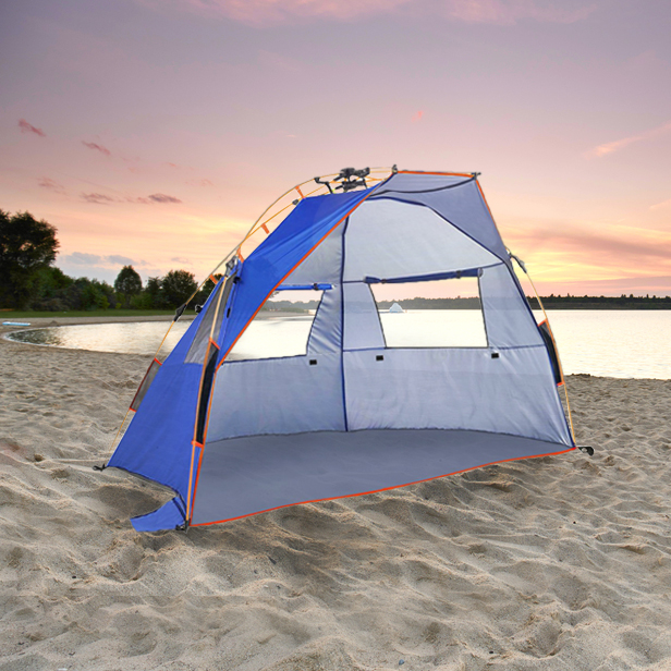 Qwest 2-3 Person Easy Instant Pop Up Park u0026 Beach Tent Sun Shade Shelter Extra Large Anti-UV Waterproof Windproof - Walmart.com & Qwest 2-3 Person Easy Instant Pop Up Park u0026 Beach Tent Sun Shade ...
