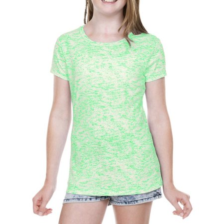 kavio! girls 7-16 static jersey print crew neck short sleeve ice green l (Flash Shirts For Girls)