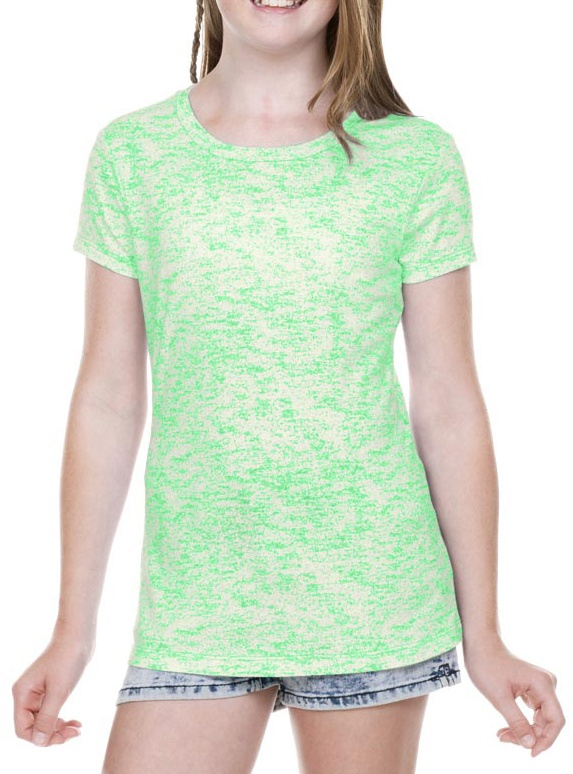 girls 7-16 static jersey print crew neck short sleeve, style gjp0648