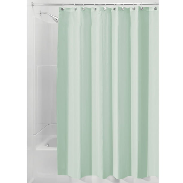 Interdesign Waterproof Fabric Shower, Green And White Shower Curtain