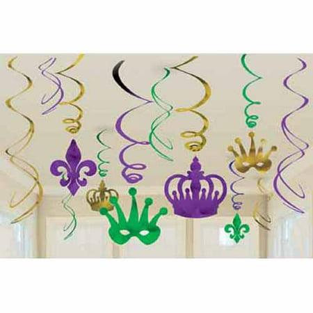 Mardi Gras Decorating (Mardi Gras Hanging Swirl Decorations)