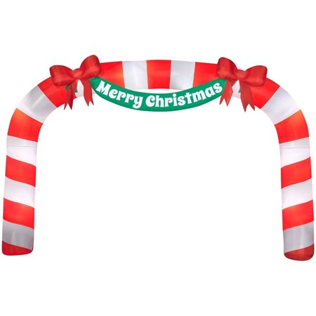 Home Accents Holiday 23 ft Giant Candy Cane Archway - Halloween Inflatable Archway