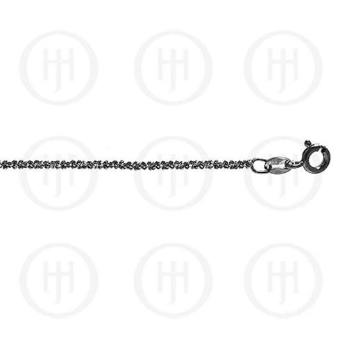 Doma Jewellery MAS04213-20 Sterling Silver -Fancy Chain Assorted DISCO Black Colour Chain-DISCO35 20 inches