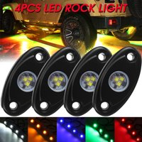 4x 9W Color LED Rock Light Truck Car Boat SUV Under Body Trail Rig Lamp ATV UK