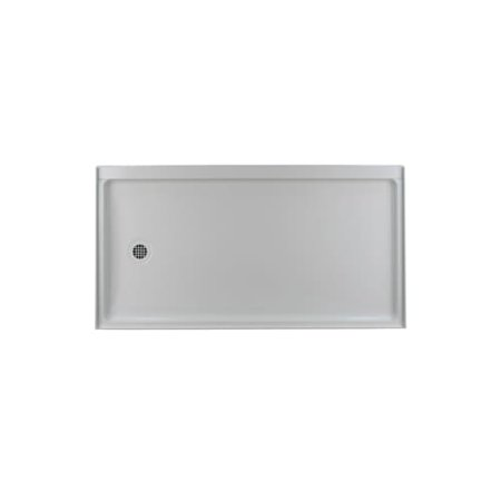 """Swanstone FR-3260L 32"""" X 60"""" Shower Receptor with Single Threshold and 3"""" Left Drain"""