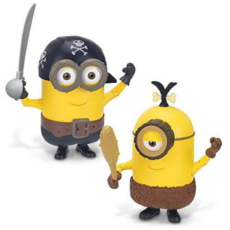 Minions Deluxe Action Figure - Build-A-Minion Pirate/CRO-Minion - Minions Minions