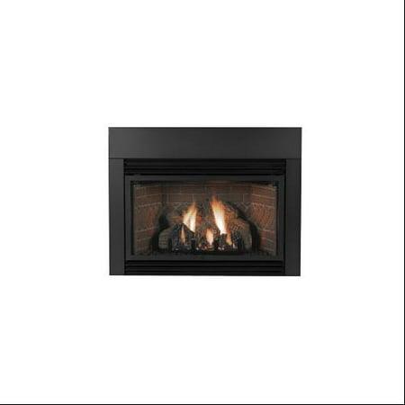"Contemporary Steel Surround for 33000-BTU Fireplace Insert - 6x3"""
