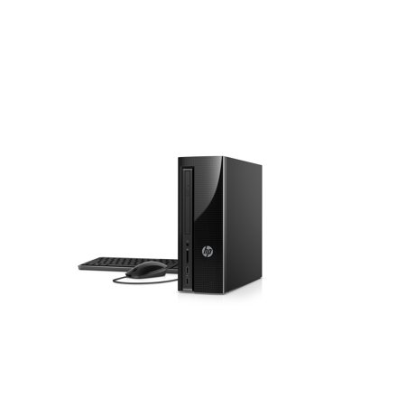 HP Slim 270-p033w Desktop Tower, Intel Celeron G3930 Processor, 4GB Memory, 500GB Hard Drive, Keyboard and Mouse, Windows