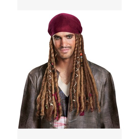 Pirates of the Caribbean 5: Jack Sparrow Bandana W/Dreads - Adult