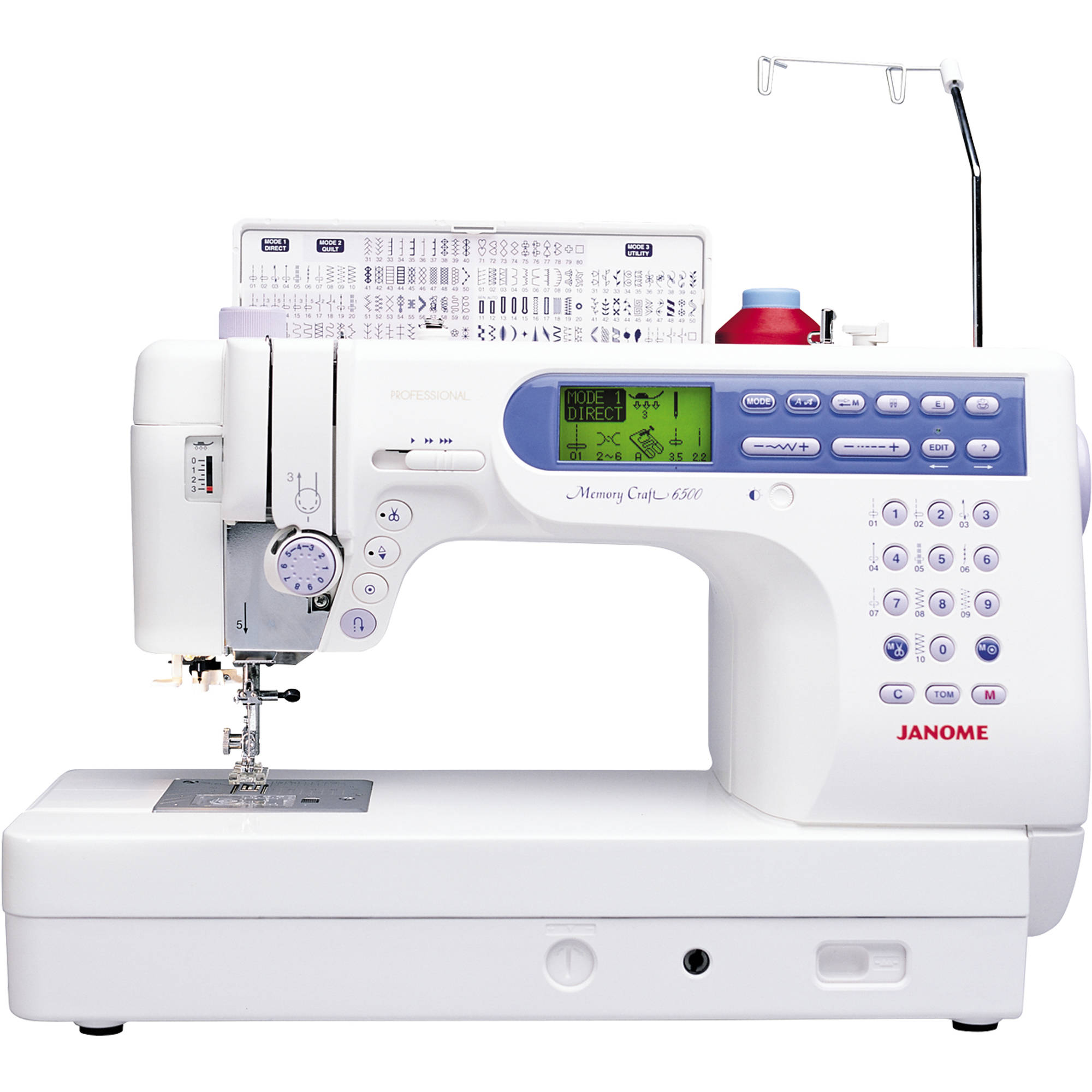 Janome 6500P 135-Stitch High-End Fully-Featured Computerized Quilting and Sewing Machine