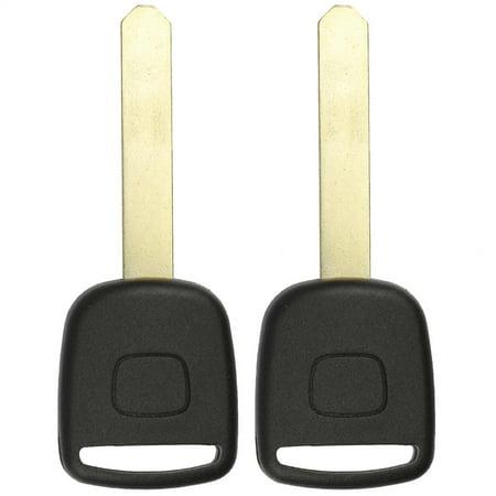 2 PACK KeylessOption Uncut Blade Ignition Chip Car Transponder Key Blank For 2002-2005 Honda CR-V Civic Element Odyssey Pilot S2000 Genuine Honda Pilot