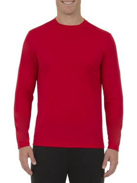 Athletic Works Men's Active Quick Dry Performance Long Sleeve Tee Shirt