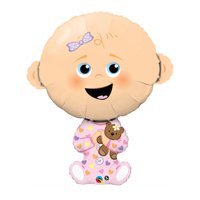 "Burton & Burton 38"" Baby Girl Shape Balloon"
