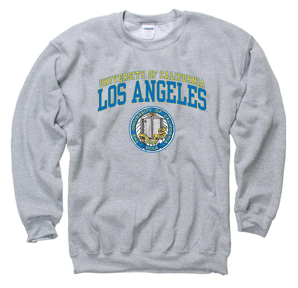 UCLA Double Arch Men's Crew- Neck Sweatshirt-Gray