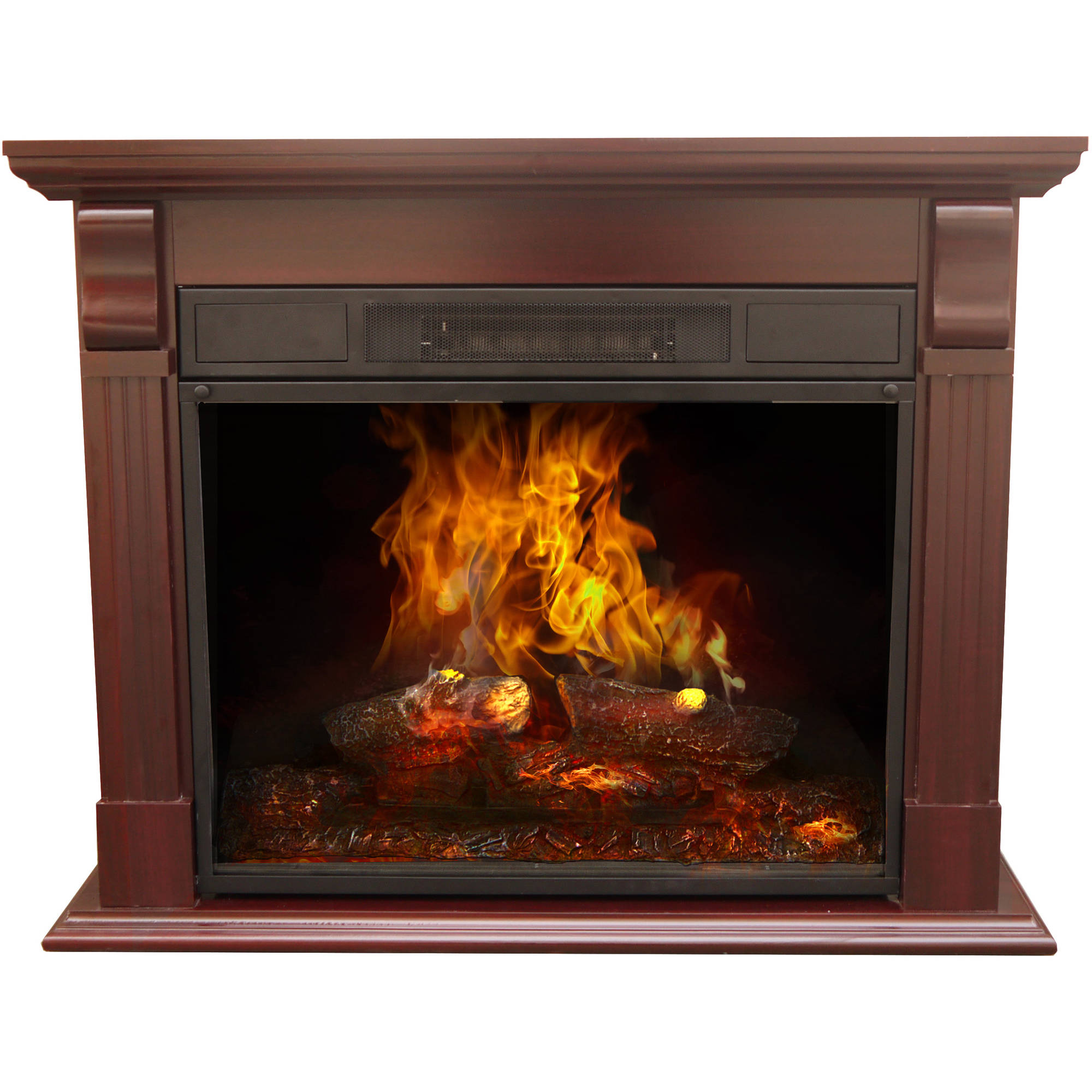 """Decor Flame Electric Fireplace with 33"""" Mantle"""