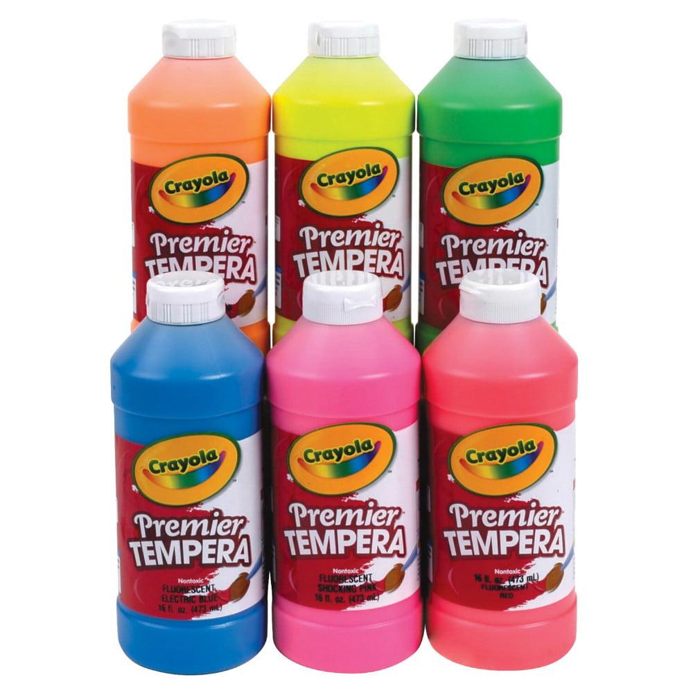Crayola Premier Non-Toxic Tempera Paint, 1 Pt Squeeze Bottle, Fluorescent Chartreuse
