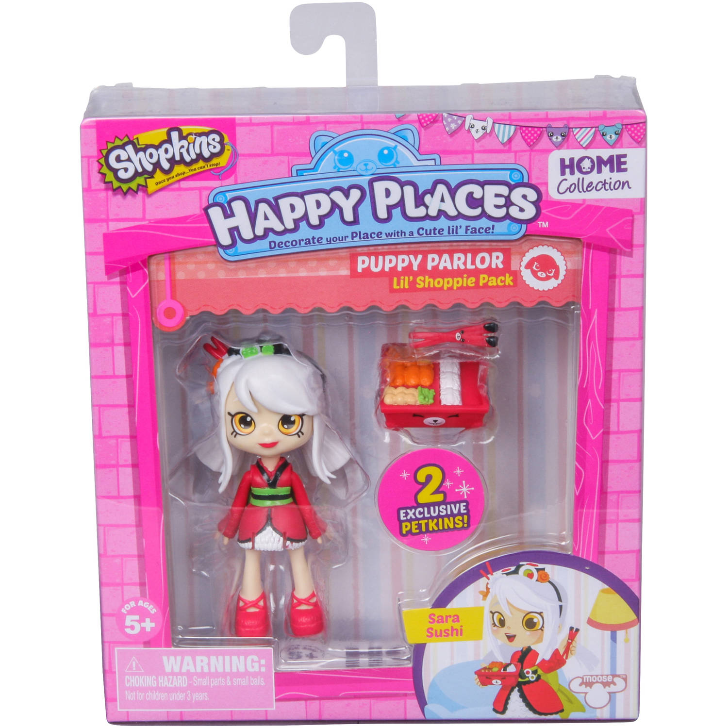 Shopkins Happy Places Doll Single Pack, Sara Sushi