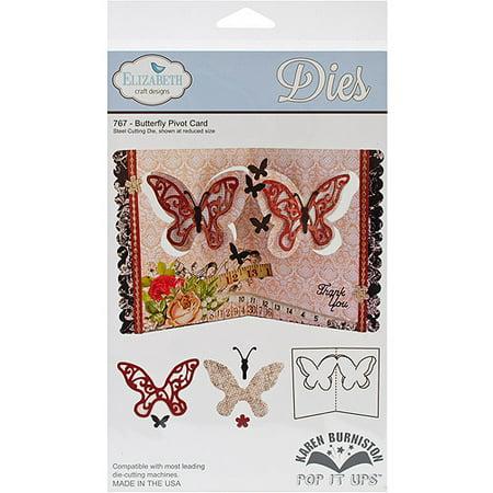 Elizabeth Craft Pop It Up Metal Dies By Karen Burniston, Butterfly Pivot Card