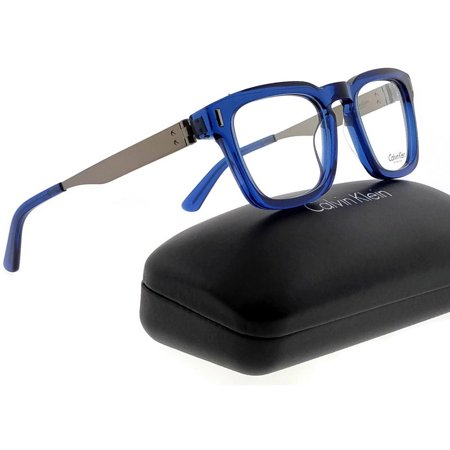 Calvin Klein CK8018-405-50 Square Men's Blue Frame Clear Lens Genuine