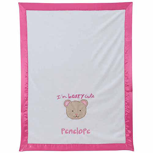 Personalized Sandra Magsamen I'm Berry Cute Girl's Blanket