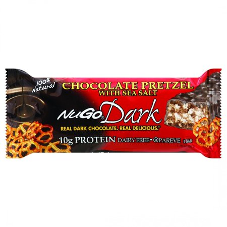 NuGo Nutrition Bar - Dark - Chocolate Pretzel - 1.76 oz - Case of 12