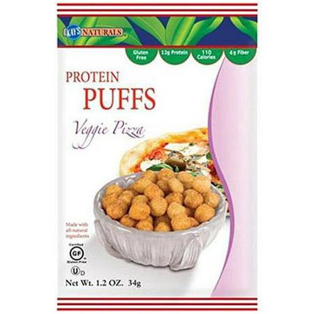 Halloween Veggie Pizza (Kay's Naturals Protein Puffs, Veggie Pizza, 12g Protein, 6)
