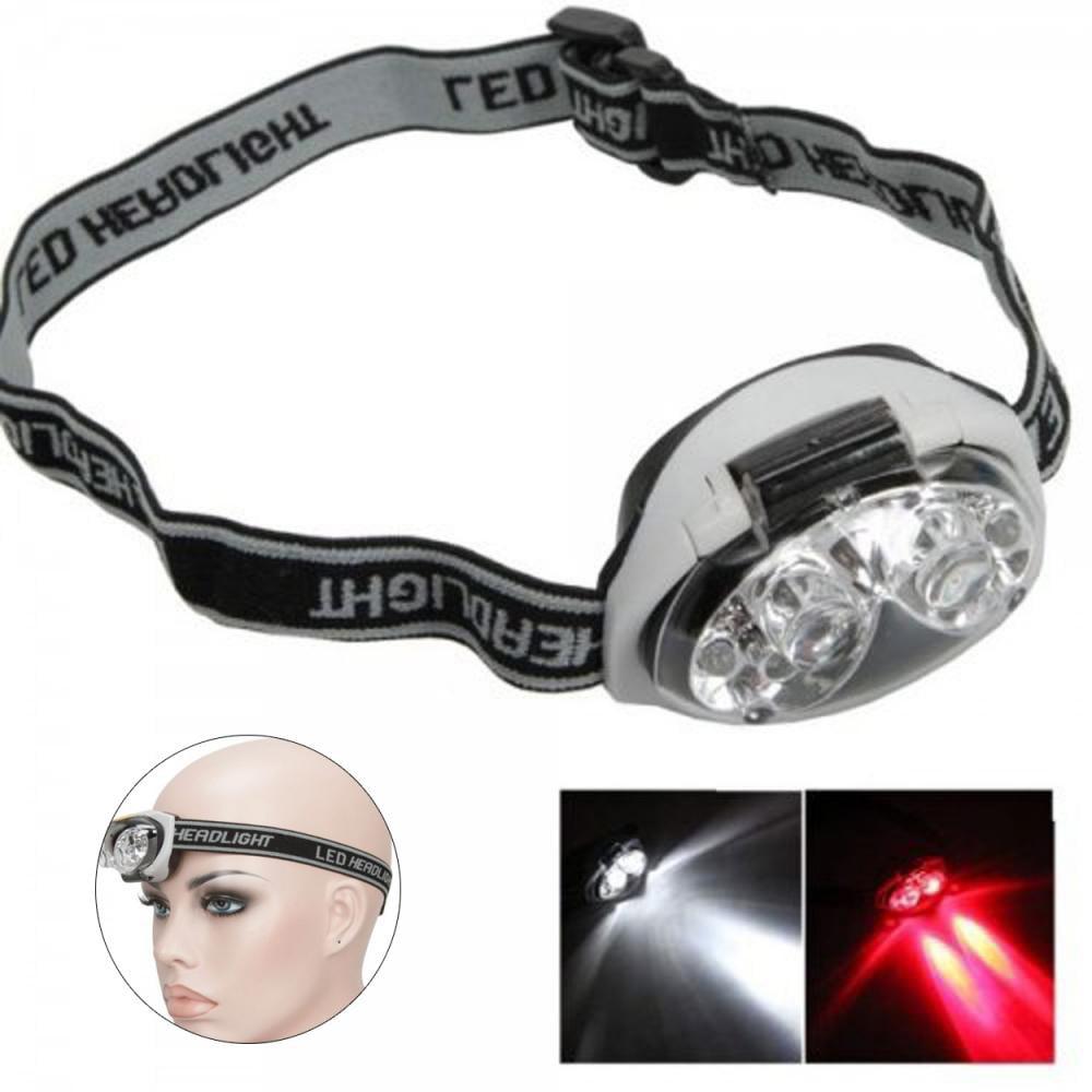 Knifun 6 LED Adjustable Angle & Headband Strap Super Bright Headlamp 3 Mode 1200 Lm Waterproof