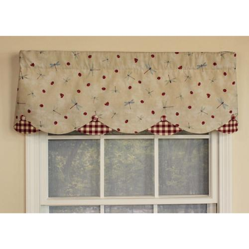 RLF HOME Fly Away Cream Petticoat Window Valance