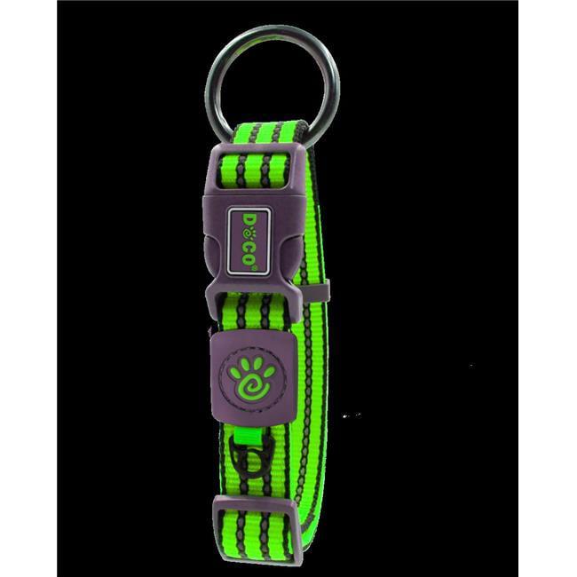 Doco DCV006-07L 2 mm Nylon Vario Collar, Light Green - Large