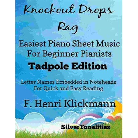 Knockout Drops Rag Easiest Piano Sheet Music for Beginner Pianists Tadpole Edition - eBook - Halloween Piano Music For Beginners