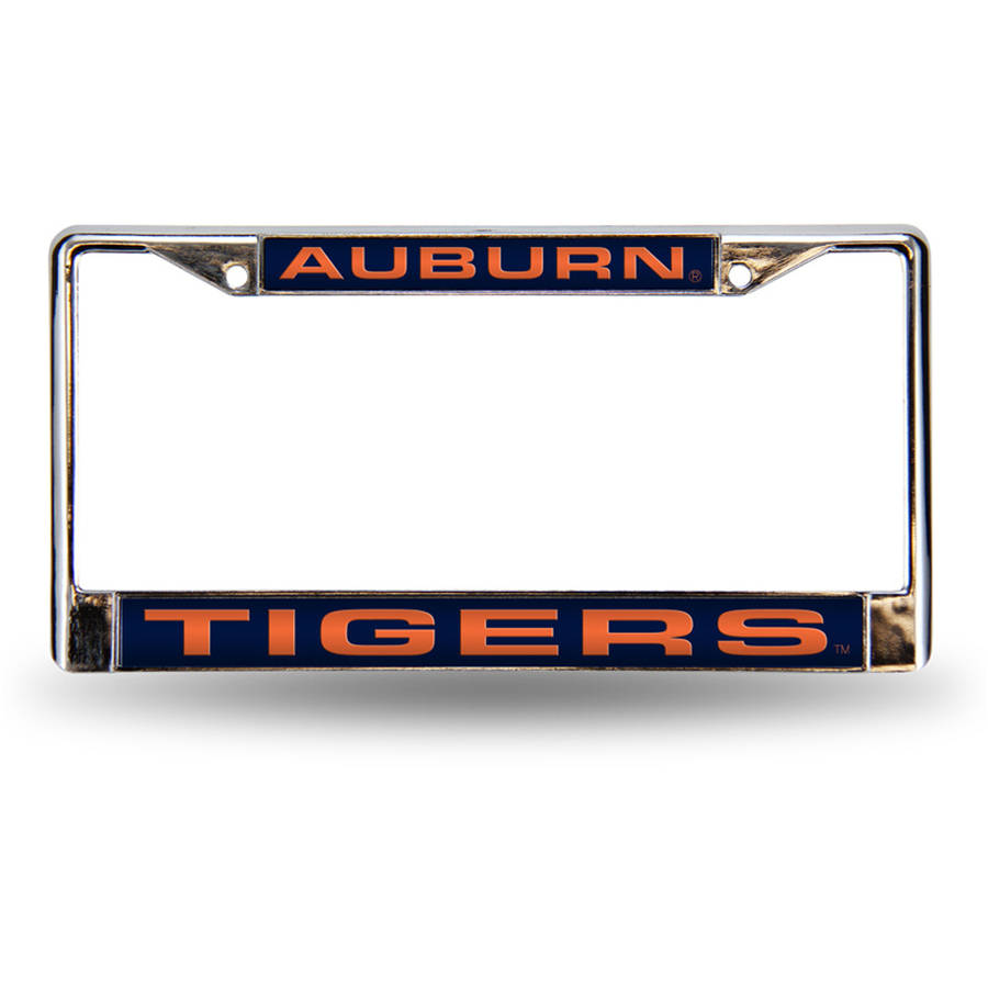 NCAA Auburn Chrome Laser License Plate Frame