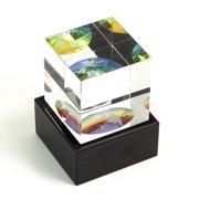 Bey-Berk International Crystal Etched Globe Cube 2-Piece Set