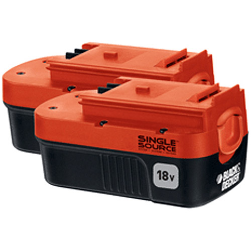 Black & Decker Double Pack 18V Nicd Battery, 1.5 Ah, HPB18-OPE2