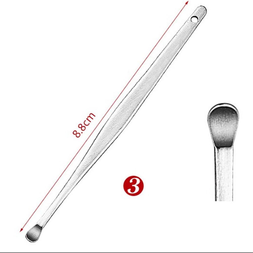 6Pcs//Set Spiral Portable Earpick Spoon Ear Wax Remover Cleaner Ear Care Tool Kit