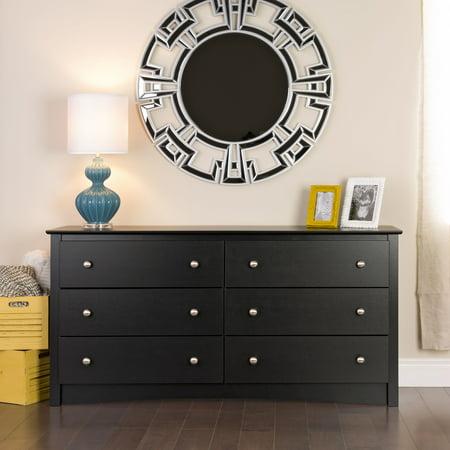 Black Six Drawer Dresser (Prepac Sonoma 6-Drawer Dresser,)