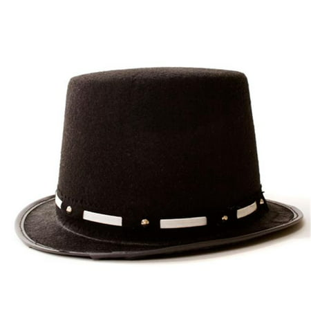 99808cddb2db0 Dress Up America 464-S Tuxedo Top Hat with Silver Trim - Size Adult ...